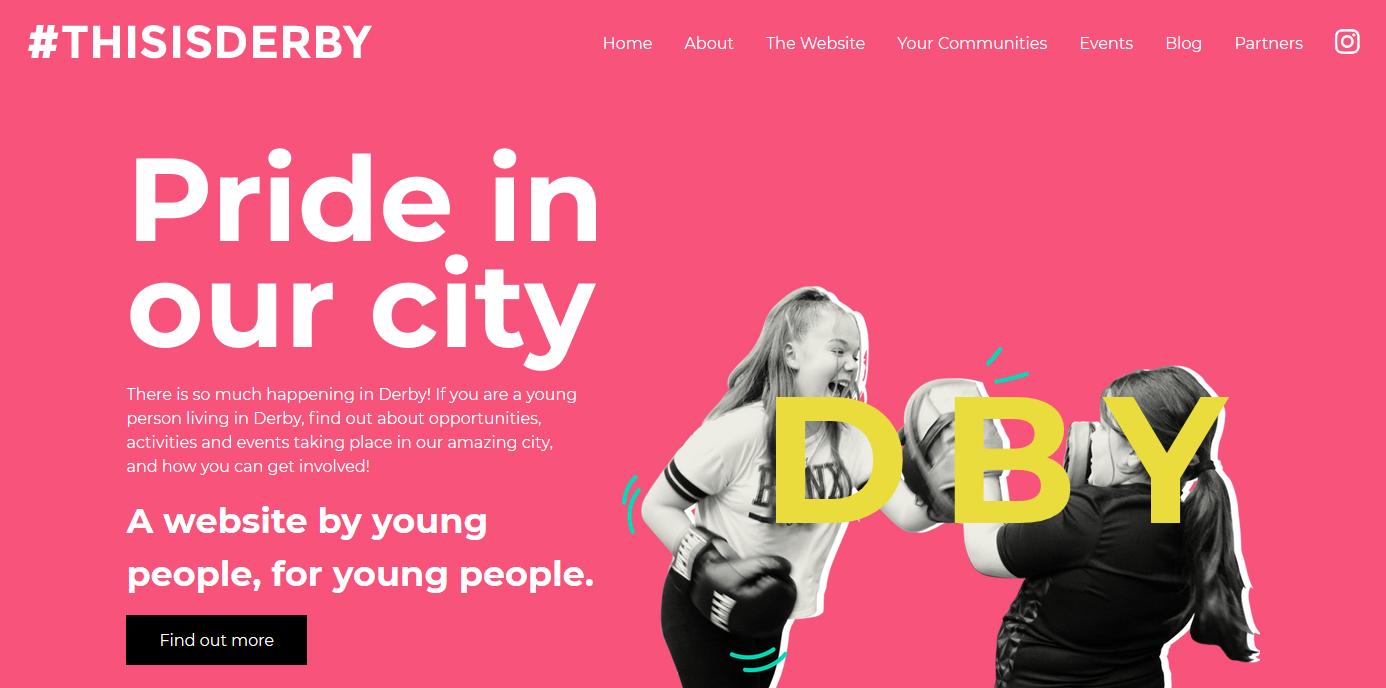 #ThisIsDerby website homepage